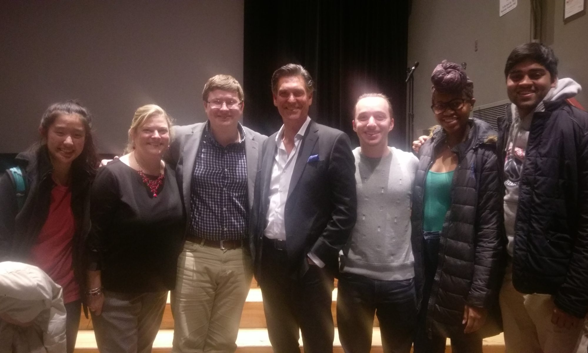UMD alumnus and ODKer, Mark Ciardi, meets with the ODK exec board following the advance screening of Chappaquiddick